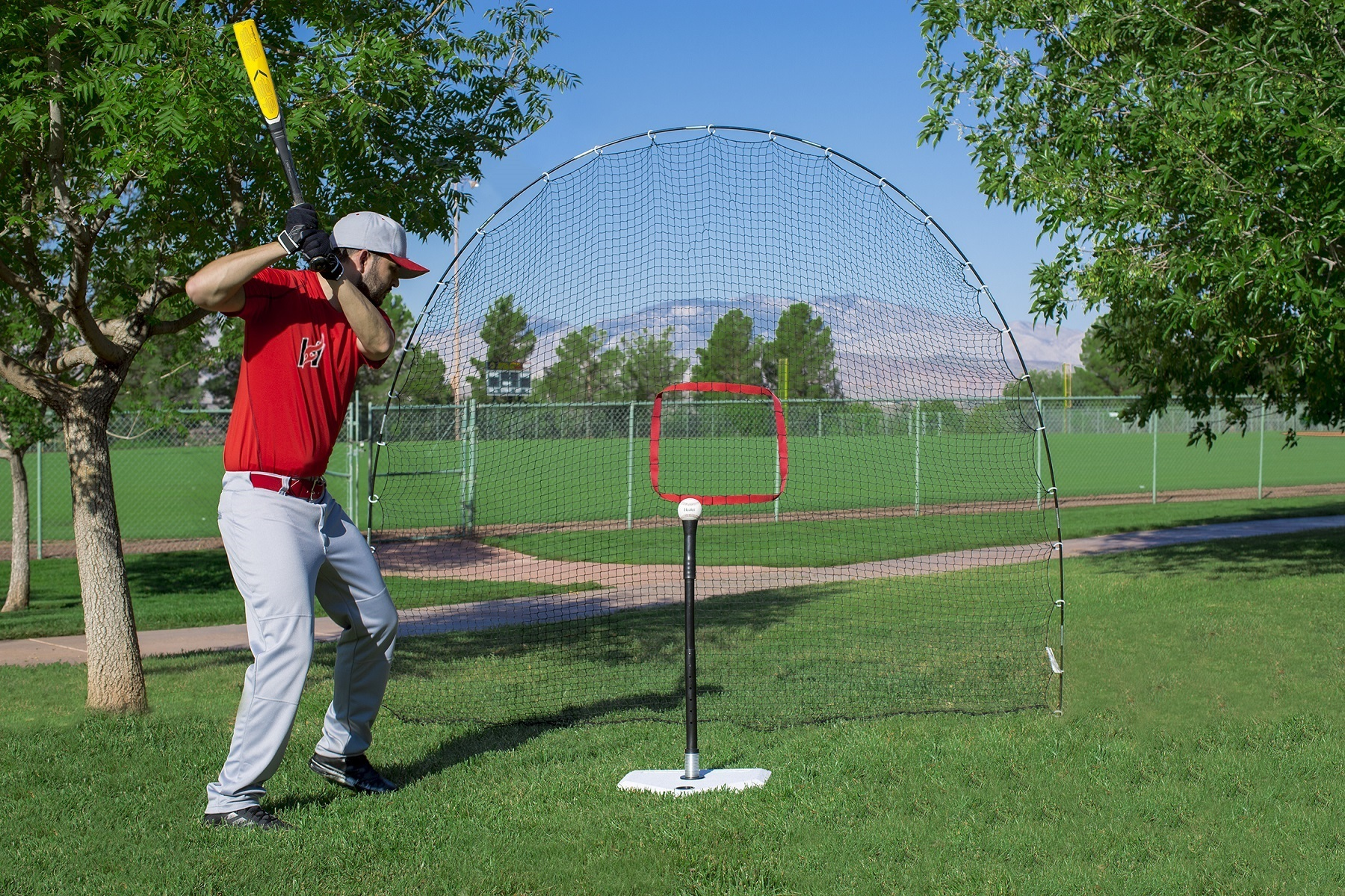 Hitting Station 3-in-1 Tee & Sports Net