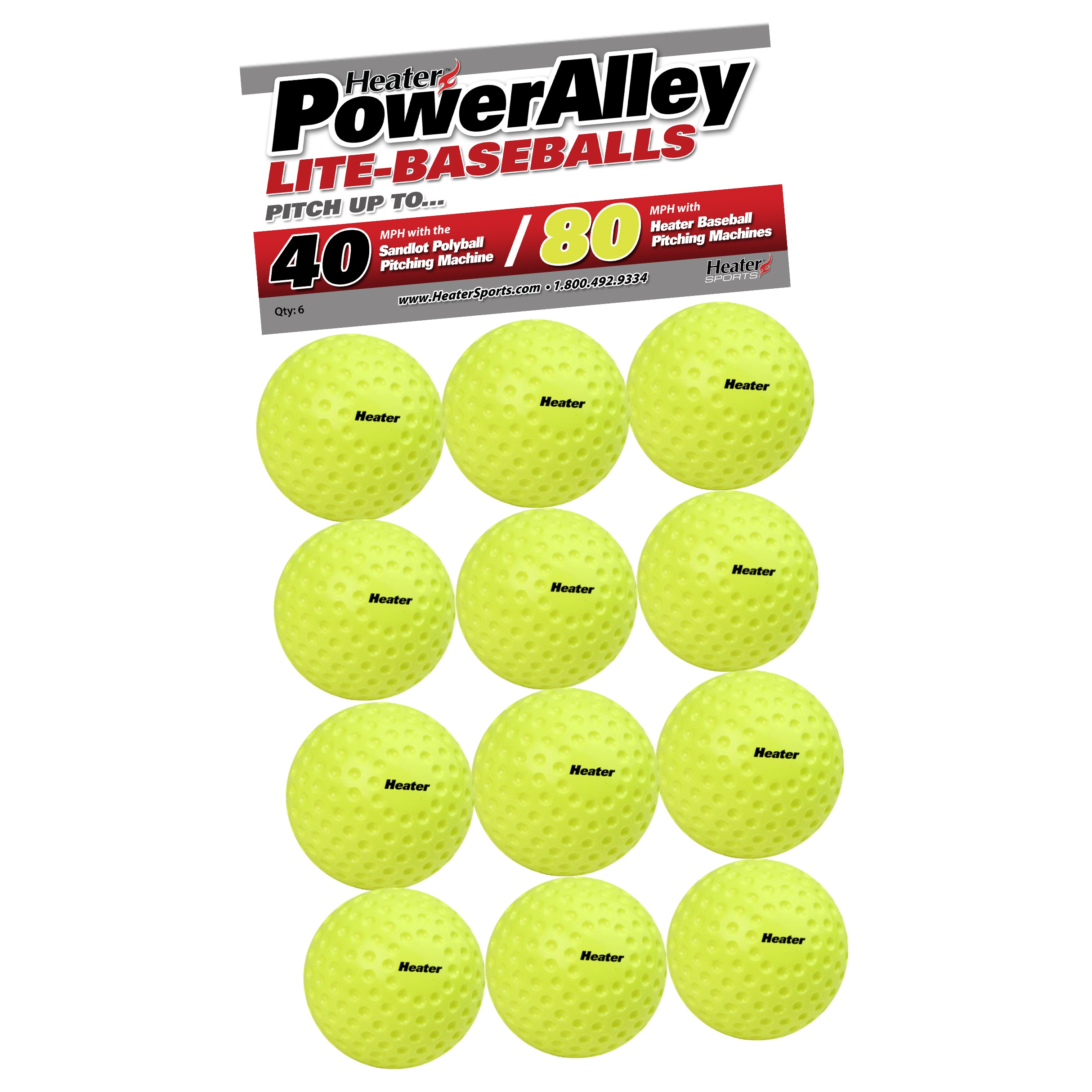 PowerAlley 80/Sandlot 40 MPH Lite Baseballs
