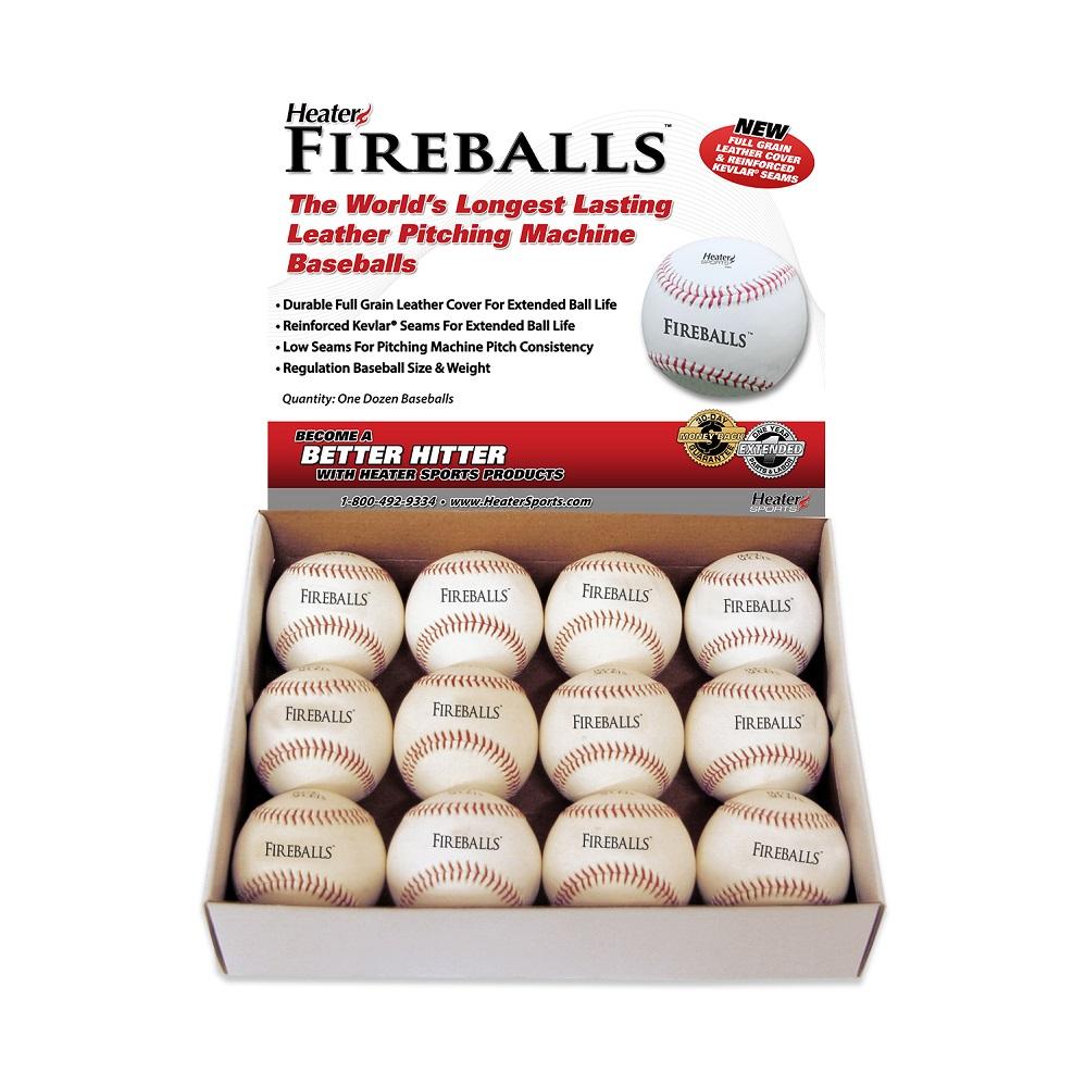 Fireballs Leather Pitching Machine Baseballs