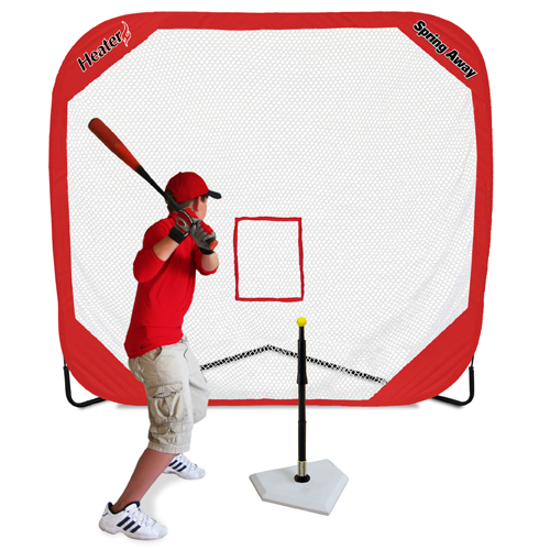 Spring Away Tee & Spring Away 7' x 7' Pop-Up Net
