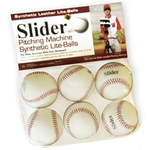 Slider Lite Synthetic Leather Pitching Machine Baseballs